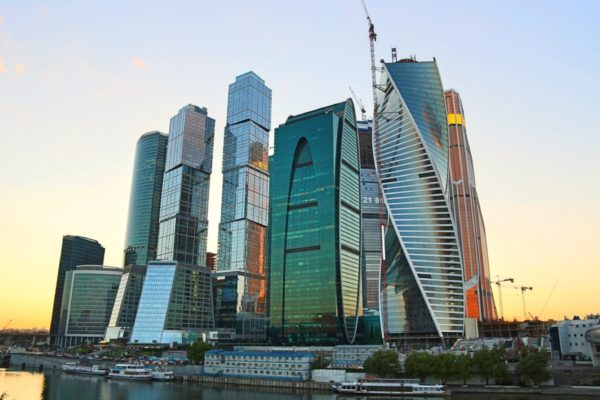 Moscow city business center nella capitale russa