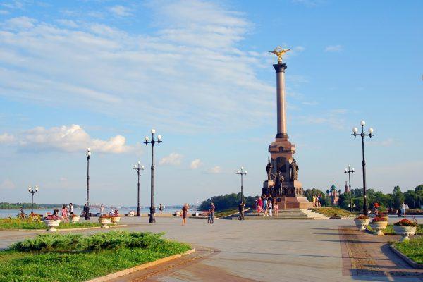 Tour Anello d'oro, Parco Strelka a Yaroslavl, incrocio fiumi Volga e Kotorosl