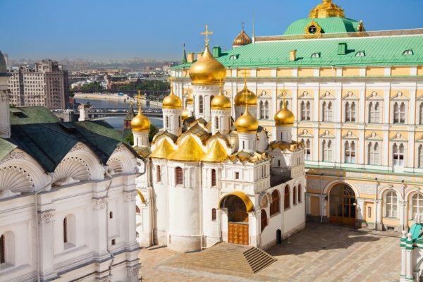 Viaggio in Russia, visita al Cremlino di Mosca, Piazza della Cattedrale