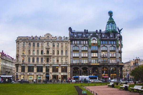 Tour a San Pietroburgo, palazzo lungo la prospettiva Nevsky