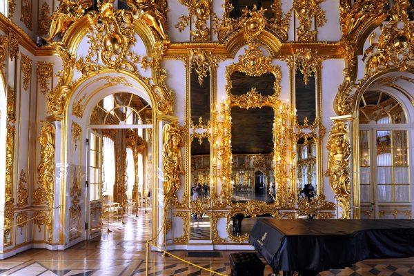 palazzo di caterina II - tsarskoe selo - ornamenti interni