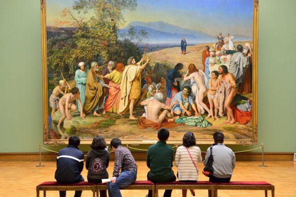 Museo di Mosca Galleria Tretyakov, apparizione di Cristo al popolo