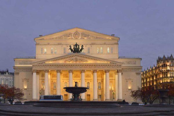 Tour Mosca, Teatro Bolshoi la sera