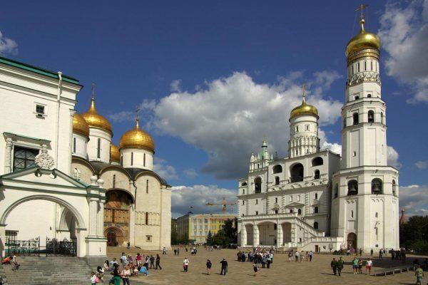 Viaggio in Russia, Campanile di Ivan il Grande, dentro il Cremlino di Mosca