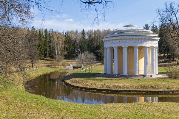 Viaggio in Russia, Padiglione dell'amicizia nel parco di Pavlovsk