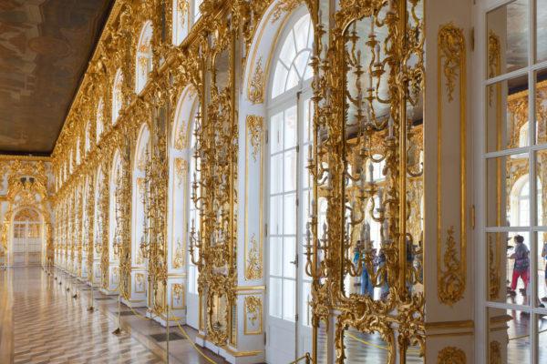 Tour San Pietroburgo, sala interna del Palazzo di Caterina, Pushkin (tsarskoe selo)