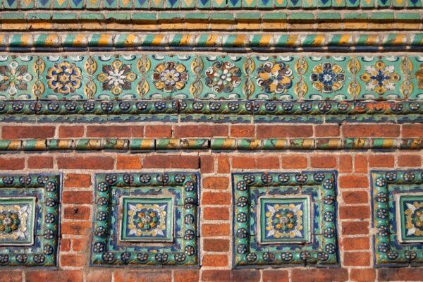 dettagli del muro, Tour di Mosca e città dell'Anello d'Oro