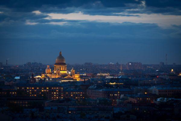 San Pietroburgo notturno, Viaggio Mosca San Pietroburgo