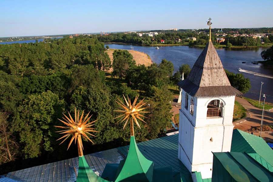 vista dalle cupole, Tour di Mosca e città dell'Anello d'Oro