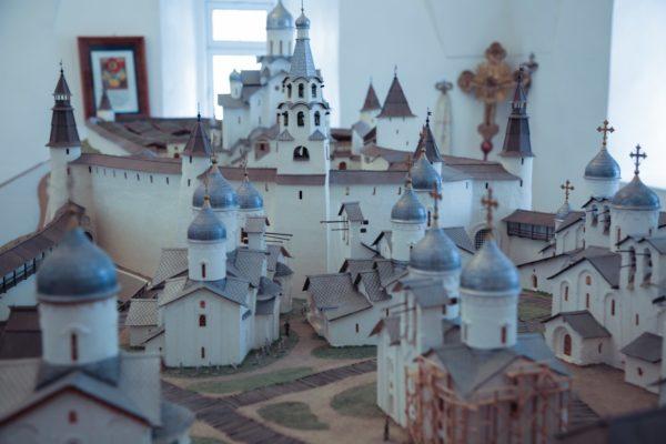 Miniatura della città antica di Pskov