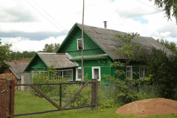 La casa di legno, Pscov in Russia