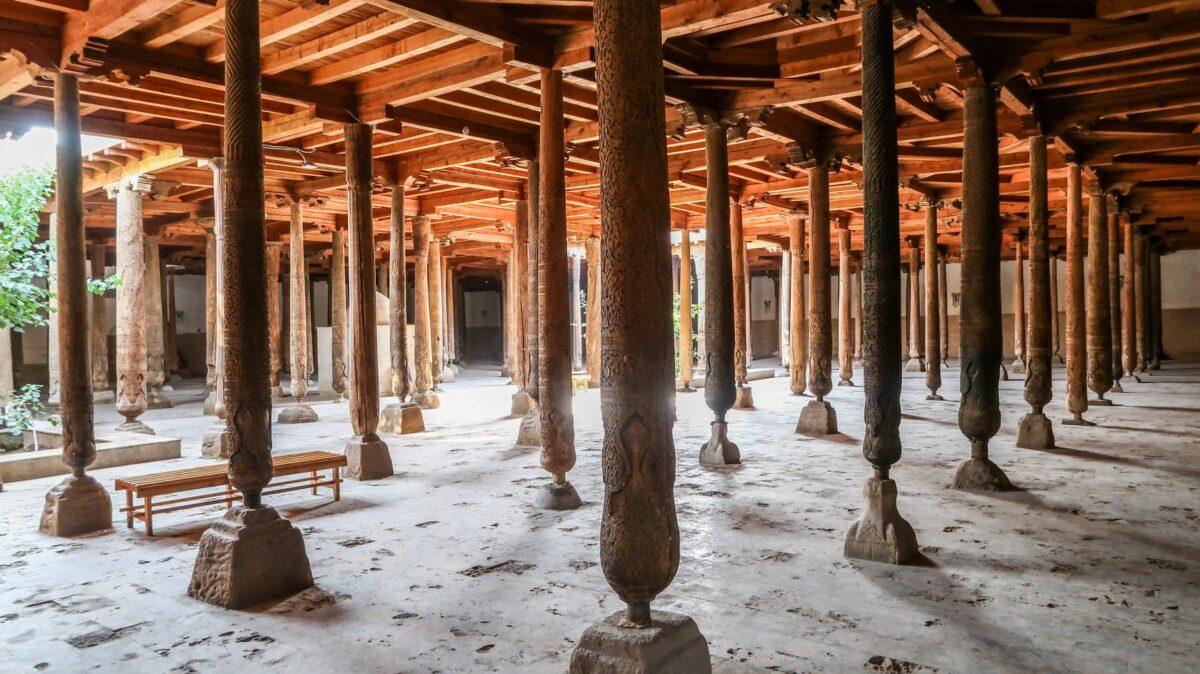 Colonne antiche di Uzbekistan