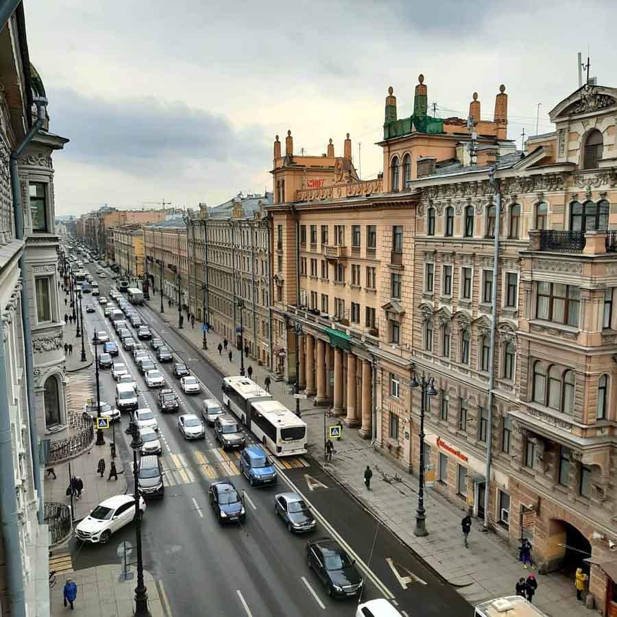 Corso Nevskiy a San Pietroburgo