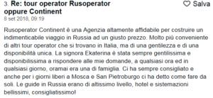 Recensione del Tour Mosca San Pietroburgo