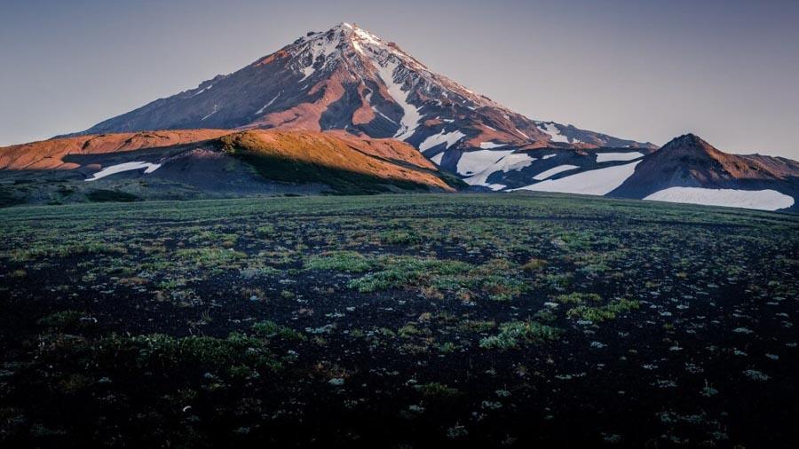 Il vulcano Avačinskij (Avacha), penisola di Kamchatka, Russia