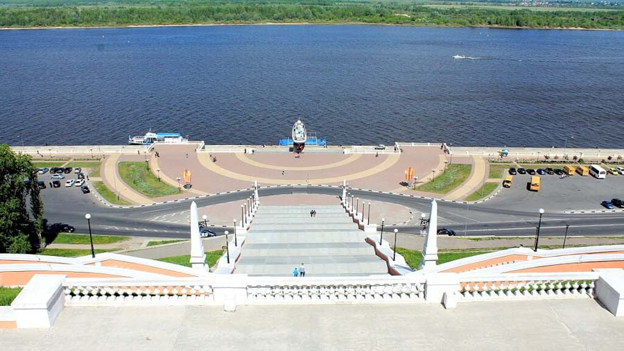 La scalinata Chkalov